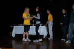 Verity Tolhurst receiving her trophies